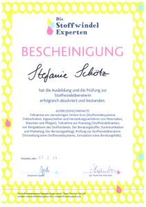 Zertifikat Ausbildung Die Stoffwindelexperten